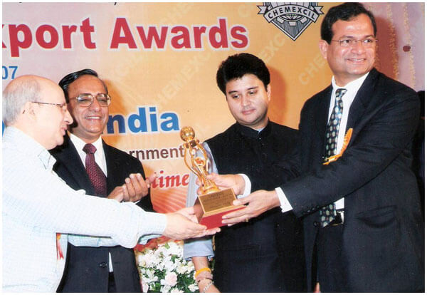 Chemexcil- Second Award for Outstanding Export Performance